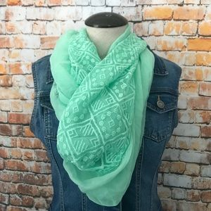 5/$20 shipped Mint infinity lace scarf